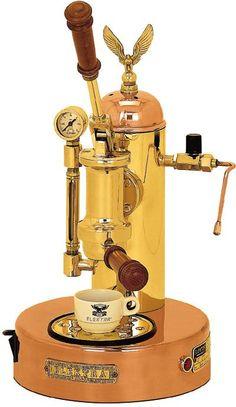 Elektra Micro Casa a Leva copper and brass - lever operated espresso coffee maker
