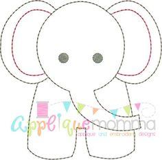 Elephant Vintage Embroidery Design