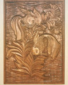 Woodcarved fishes. In chinese mythology it can be transformation of dragons.This motif symbolizes success in the civil service examinations. #woodart #wood #woodcarvingstudio #art #artoftheday #etsyprepromo #etsyforall #etsyfinds #etsystore #etsyshopowner #etsyowner #etsy #etsian #smallbiz #smallbusiness #handmade #handcraft #shopetsy #shophandmade #diy #craft #craftstudio #crafty #instawood #instalike #instagood