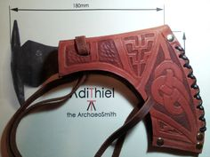 Leather Bearded Viking Axe Sheath by MedievalWorks on Etsy
