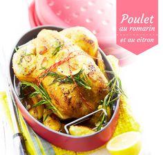 Recette du poulet au romarin et au citron #recette #poulet #blancheporte
