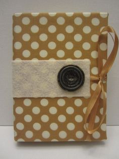 Gold and Cream Polka Dot Pattern with Large by TheElegantLady