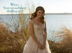 Romantic Wtoo Audrey gown is an off-the-shoulder, beaded ballgown with illusion tulle straps
