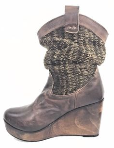 cad05475899f Bed Stu Bruges size 8.5 B Slouch sweater Boots BROWN Hard to find WEDGE  Bedstu