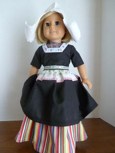"Traditional Dutch dance costume for your 18"" American Girl dolls by Nancy's Doll Closet on etsy.com"