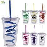 Order these for fun holiday gifts! Promotional 16 oz. Carnival Cup Tumbler with Curly Straw | Customized Plastic Straw Tumblers | Promotional Plastic Straw Tumblers - Creative Ice Coffee Tumblers / Cups! These are great for advertising you college, school, sorority, or club!