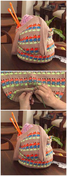 Crochet Very Easy Round Bag