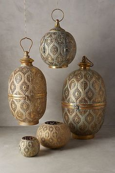 Anthropologie Lanterns.  Moroccan or Indian style.