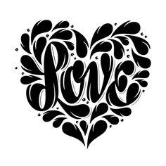 Shape of Love by Martina Flor from Tattly Temporary Tattoos tattoos tribal tattoos polynesian tattoos chest tattoos turtle tattoos ideas Stencil Templates, Stencil Patterns, Stencil Art, Stencil Designs, Stencils, Flower Silhouette, Silhouette Design, Silhouette Images, Love Heart Tattoo