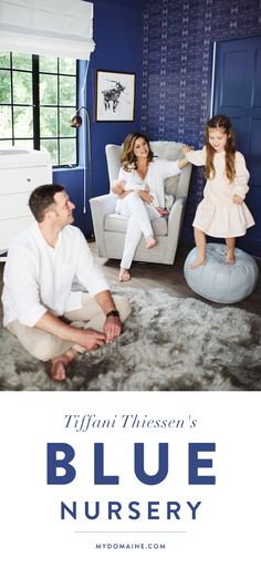 The blue Star Wars-inspired nursery of Tiffani Thiessen