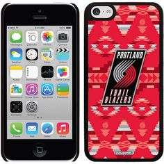 Portland Trailblazers Tribal Print Design on Apple iPhone 5c Thinshield Snap-On Case by Coveroo