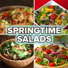 4 Simple Springtime Salads by Tasty