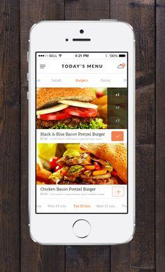 Food App Concept v2 - by Konstantin Vorontsov | #ui #ios
