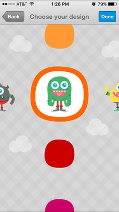 Let your child choose a LaLa Monster and color to design a virtual lunchbox