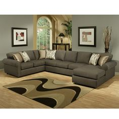 Living Room Furniture Arrangement With Sectional Sofa