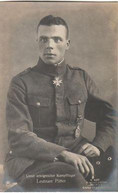 Lt. Fritz Pütter, 14 janvier 1885, Jasta 9, 68, Victories 25. Est mort brûlé avec son avions à cause de ses munitions incendiaires.