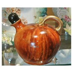 RARE Antique Count Thun Whiskey Jug 1800s Austria Vienna Hand Painted... (9.390 RUB) ❤ liked on Polyvore featuring home, kitchen & dining, serveware, porcelain serveware, porcelain jug, whiskey jug, whiskey decanter and whisky decanter