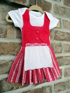 Newborn Sized German Baby Dirndl Dress