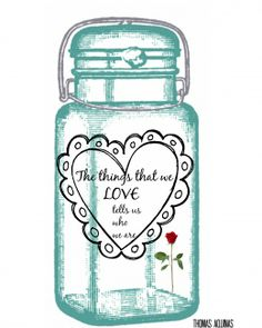 #masonjar love Free Printable - frame and hang!