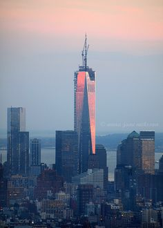 One World Trade Center, standing at its full height of 1776 feet, symbolizes the year America gained independence. ~  Manhattan, New York