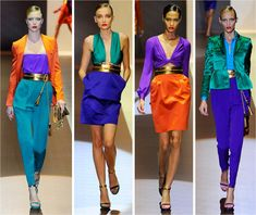 and colour blocking ~ Femme Lifestyle Colour Blocking Fashion, Color Blocking Outfits, Fashion Colours, Cooler Stil, Color Combinations For Clothes, What Is Trending Now, What's Trending, Color Beige, Colourful Outfits