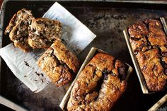 Banana Bread w Nutella Swirls - yes please!    And 53 other recipes