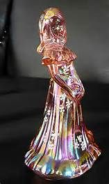 Fenton Pink Iridescent Glass Bridesmaid Figurine