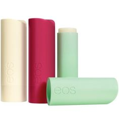 eos Lip Balm Sticks - I haven't seen these in sticks!  LOVE the pods
