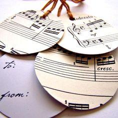 Sheet music tags