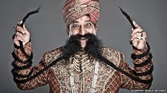 Ram Singh Chauhan of India is the proud owner of the world's longest moustache, officially recorded by Guinness World Records as 4.29m (14ft) long.