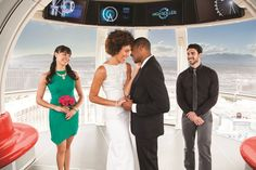 """Blog: A Vegas Wedding For Every Type Of Couple, featuring """"the Adventure Seekers """" style wedding at the High Roller Las Vegas."""