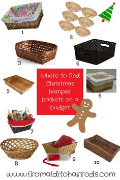 How to make your own handmade christmas hampers pinterest where to find christmas hamper baskets on a budget solutioingenieria Choice Image