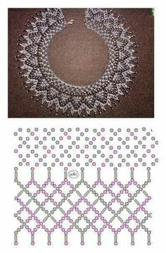 Foto Natali Khovalko - Her Crochet Diy Necklace Patterns, Seed Bead Patterns, Beaded Bracelet Patterns, Beading Patterns, Beaded Crafts, Bead Jewellery, Handmade Beads, Beading Tutorials, Loom Beading