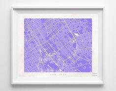 San Jose Street Map Print
