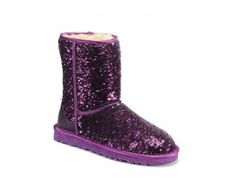 2013 New - UGG Classic Short Sparkles Boots 1002978 PURPLE MULTI