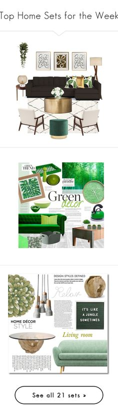 """""""Top Home Sets for the Week"""" by polyvore ❤ liked on Polyvore featuring interior, interiors, interior design, home, home decor, interior decorating, Threshold, Emporium Home, Nearly Natural and Missoni"""