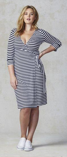 Plus Size Striped Dress (up to size 18)