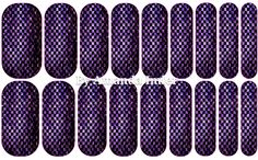 Purple Snakeskin Custom Jamberry Wrap by Amanda #nailartstudio #jamberrynails