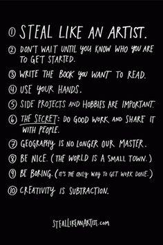 Steal like an Artist - bonus: click for more books on creativity