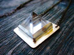 Crystal Pyramid Necklace. $85.00, via Etsy.