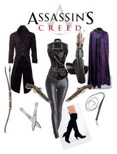 """Female Assassin Creed Costume"" by keagan-yates ❤ liked on Polyvore featuring Qupid"