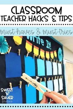 All teachers love a good teacher hack or trick! Here I am sharing a phenomenal list of teacher tips, ideas, hacks, and resources to try in your elementary classroom. Some of the amazing tips and tricks that teachers shared were using witch fingers to track reading, using inexpensive sponges as dry erase markers, and MORE! Learn about the 30 different hacks and tricks that teachers have shared to make their classroom more efficient and functional!