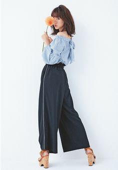 大人っぽシンプル♡ 桐谷美玲の「品のいい」肌見せ春ファッション|NET ViVi|講談社『ViVi』オフィシャルサイト