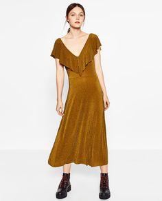 FRILLED SHINY DRESS-DRESSES-WOMAN | ZARA United States