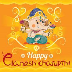Happy Ganesh Chaturthi, Traditional Holiday In Hinduism Baby Ganesha, Baby Krishna, Lord Ganesha, Ganesh Chaturthi Greetings, Happy Ganesh Chaturthi Images, Ganesha Drawing, Ganesh Wallpaper, Ganesha Pictures, Radha Krishna Images