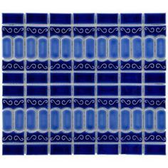 for accent stripe? - Modena 13-1/8 in. x 11-1/2 in. Cobalt Blue Porcelain Mesh-Mounted Mosaic Tile-FKOMOD43 at The Home Depot