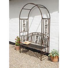 Found it at Wayfair.co.uk - Coalbrookdale 2 Seater Iron Arbour