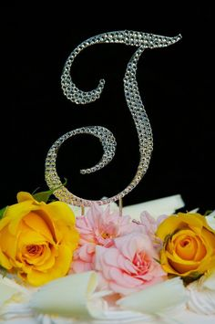 Swarovski Crystal Monogram Wedding Cake Topper Large Letter T => Tried it! Love it! Click the image. : baking decorations
