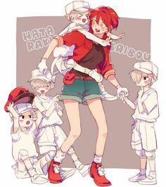 Hataraku Saibou (Cells at Work! Otaku Anime, Manga Anime, Anime Art, Me Me Me Anime, Anime Love, Dark Fantasy, Anime Plus, Tamako Love Story, Anime Lindo