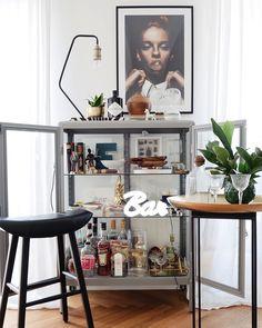 3 Simple Improvement Ideas For Your Kitchen Space – Home Dcorz Funny Home Decor, Home Bar Decor, Bar Cart Decor, Sala Ikea, Fabrikor Ikea, Interior Decorating, Interior Design, Dining Room Inspiration, Home Upgrades